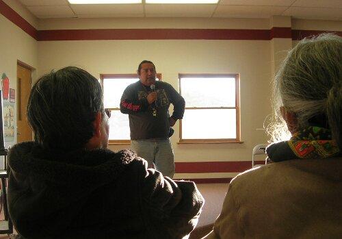 Populations autochtones navajos et hopis sous l'œil du «Grand-Père» de Washington